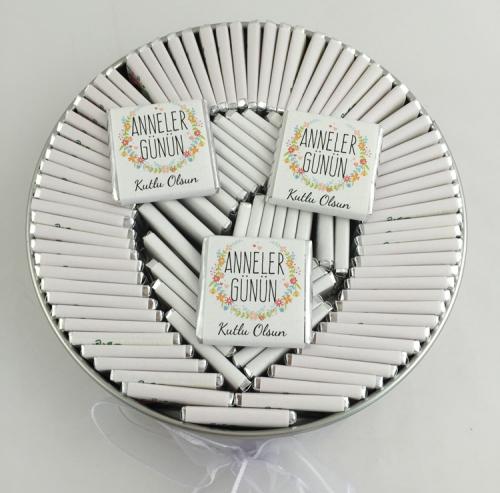 Anneler Günü Hediyesi Çikolata Metal Kutu Standart Tasarım