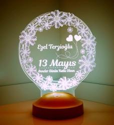 Anneler Günü Hediyesi Papatya 3D Led Lamba - Thumbnail