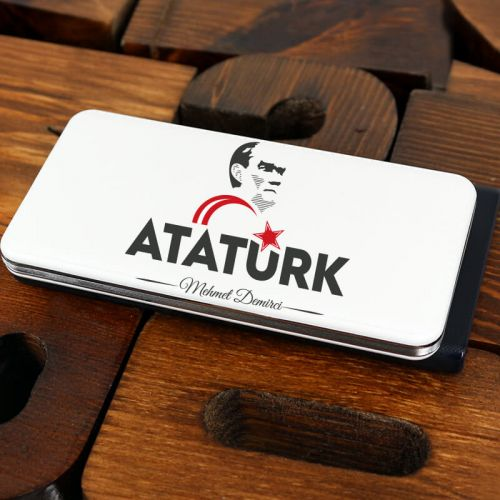 Atatürk Siluet Tasarımlı İsme Özel 7000mAh Powerbank