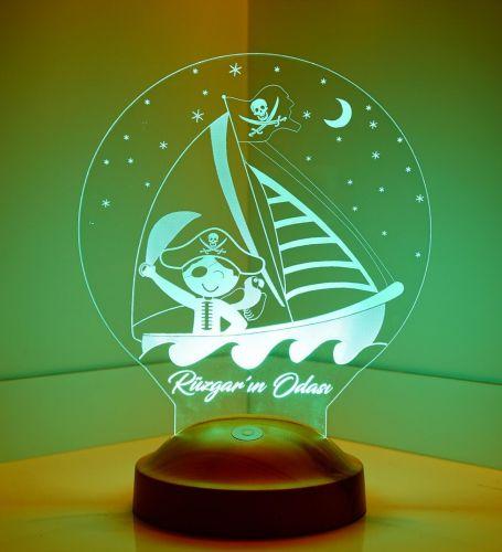 Çocuk Odası Korsan 3D Led Lamba