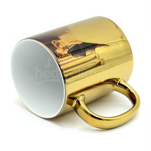 Fotoğraf Baskılı Altın Sarı Ayna Kupa