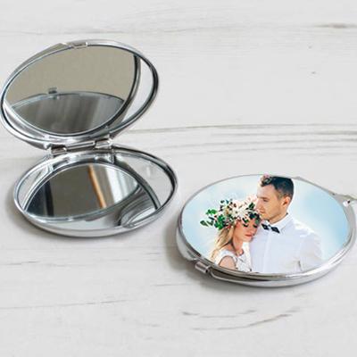 Fotoğraf Baskılı Oval Makyaj Aynası