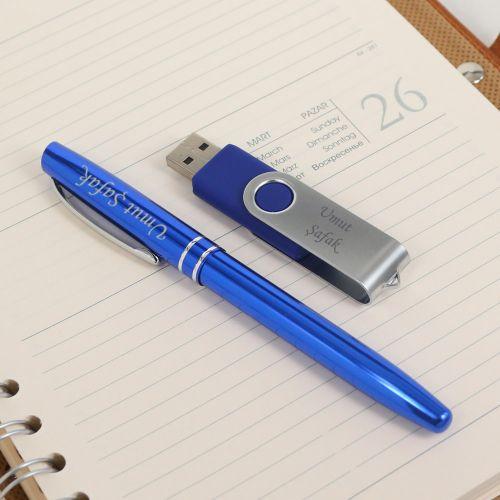 İsme Özel 8 GB USB ve Kalem Seti