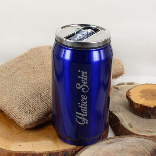 İsme Özel Bardak Termos 330 ml Mavi