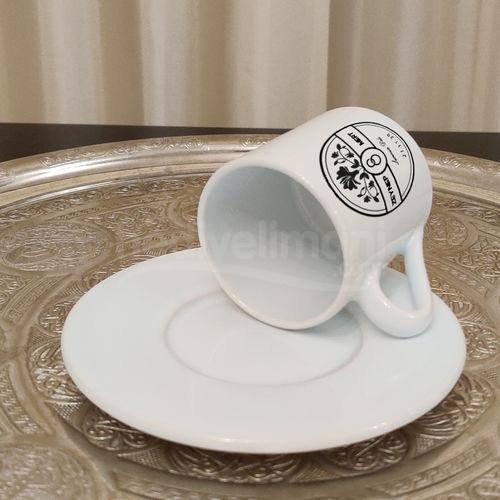 İsme Özel Çiçek Tasarımlı Türk Kahvesi Fincanı
