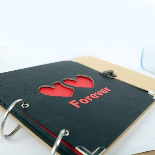 İsme Özel Çift Kalpli Kendin Yap Albüm