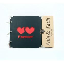 İsme Özel Çift Kalpli Kendin Yap Albüm - Thumbnail