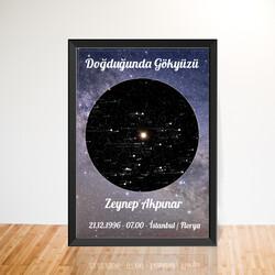 İsme Özel Doğduğun Gün Yıldız Haritası Tablo - Thumbnail