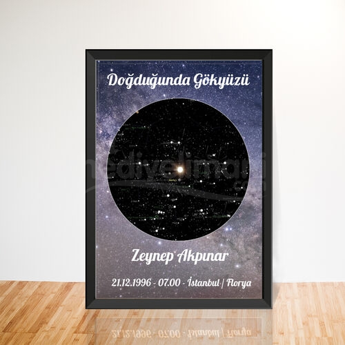 İsme Özel Doğduğun Gün Yıldız Haritası Tablo