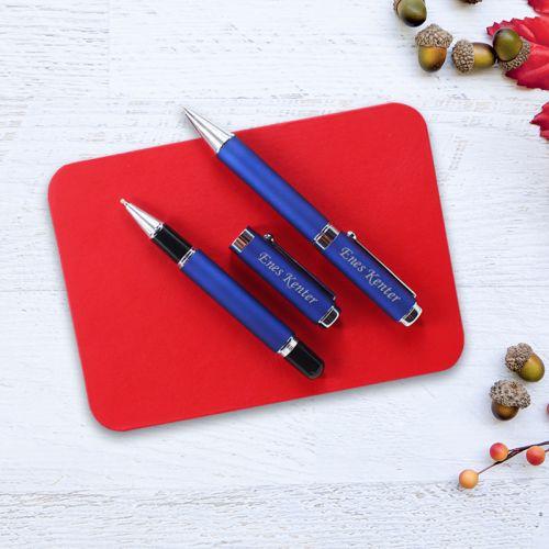 İsme Özel Kalem Seti Kırmızı Kutulu