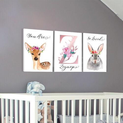 İsme Özel Kız Bebek Odası Tablosu