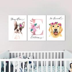 İsme Özel Kız Bebek Odası Tablosu - Thumbnail