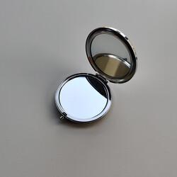 İsme Özel Kristal Cam El Makyaj Aynası - Thumbnail