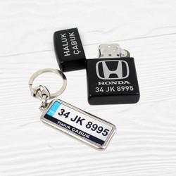 İsme Özel Logolu Çakmak ve Plaka Anahtarlık - Thumbnail
