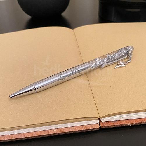 İsme Özel Sulu Simli Gümüş Kalem