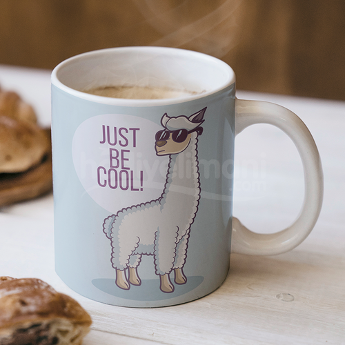 Just Be Cool Tasarımlı Kupa Bardak