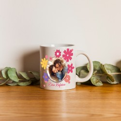 Kadına Hediye Fotoğraf Baskılı Porselen Kupa Bardak - Thumbnail