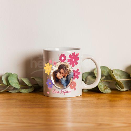 Kadına Hediye Fotoğraf Baskılı Porselen Kupa Bardak