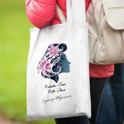 Kadınlar Günü Hediyesi İsme Özel Bez Çanta - Thumbnail