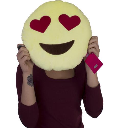 Kalpli Göz Emoji Yastık