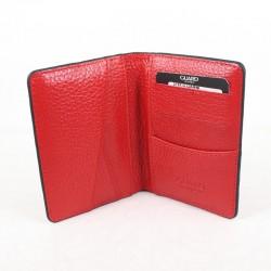 Kırmızı Deri Mini Kartlık Kişiye Özel Kalem Hediyeli - Thumbnail