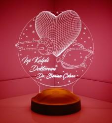 Kişiye Özel 3 Boyutlu İyi Kalpli Doktorum Led Lamba - Thumbnail