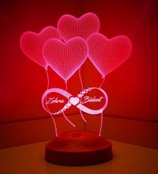 Kişiye Özel 3 Boyutlu Sonsuz Aşk Led Lamba - Thumbnail