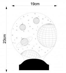 Kişiye Özel 3 Boyutlu Uzay Led Lamba - Thumbnail