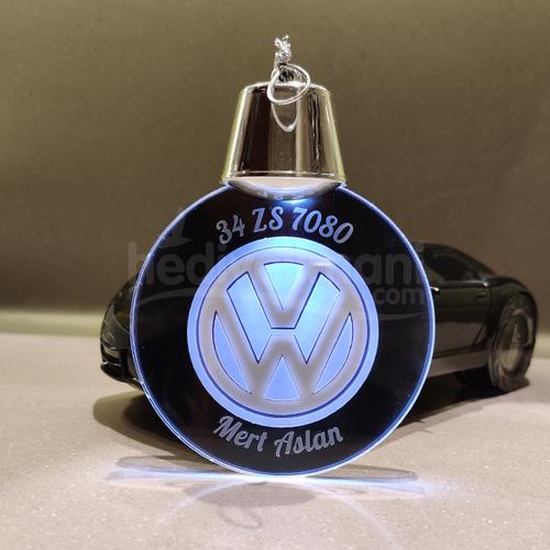 Kişiye Özel Araba Logolu ve Plakalı Işıklı Led Lamba