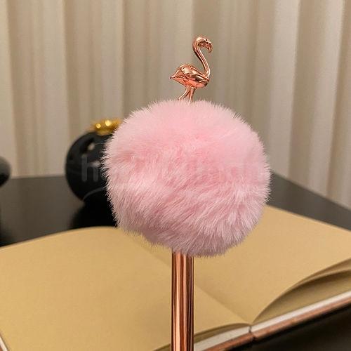 Kişiye Özel Flamingo Bronz Ponponlu Kalem