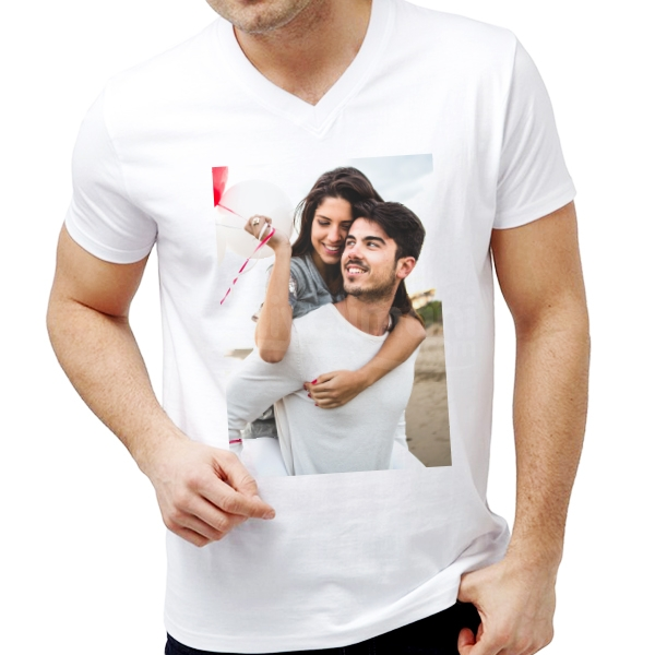 Kişiye Özel Fotoğraf Baskılı Beyaz Tişört