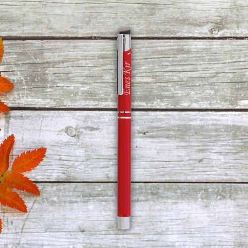 Kişiye Özel Kalem Esinti Kırmızı