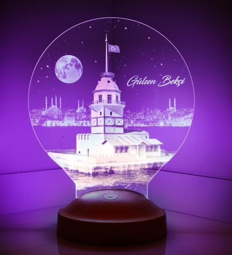 Kişiye Özel Kız Kulesi 3D Led Lamba