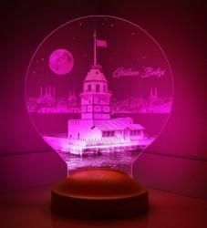 Kişiye Özel Kız Kulesi 3D Led Lamba - Thumbnail
