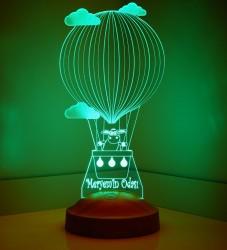 Kişiye Özel Kuzulu Balon 3D Led Lamba - Thumbnail