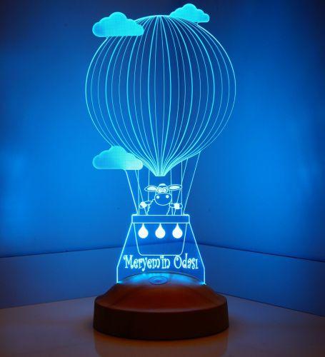 Kişiye Özel Kuzulu Balon 3D Led Lamba