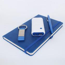 Kişiye Özel Mavi Florya Powerbank Seti - Thumbnail