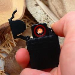 Kişiye Özel Siyah Metal Elektronik Çakmak - Thumbnail