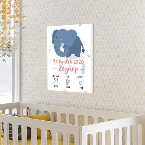 Kız Bebek Doğum Günü Bilgileri Hatıra Tablosu