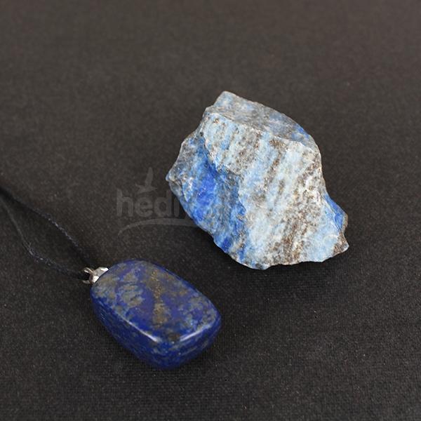 Lapis Lazuli Doğal Taş ve Doğal İşlenmiş Kolye