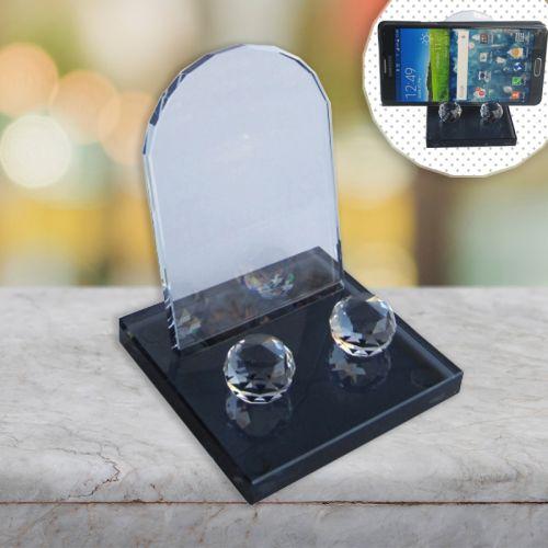 Masaüstü Kristal Cep Telefonu Standı