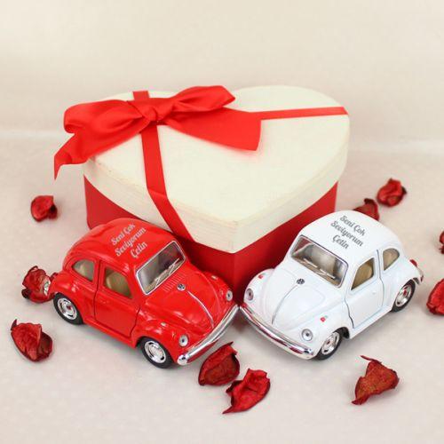 Orijinal Mini Vosvos 2'li Kırmızı Beyaz