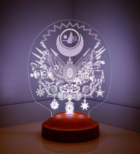 Osmanlı Tuğrası 3D Led Lamba