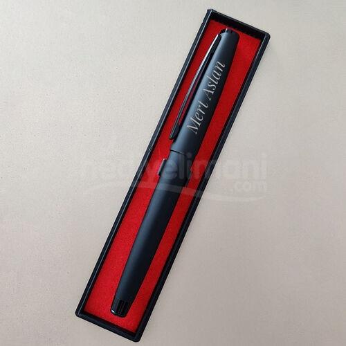 Özel Kutulu Siyah Kişiye Özel İmza Kalemi
