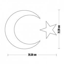 Pleksi İsimlik Ay Yıldız - Thumbnail