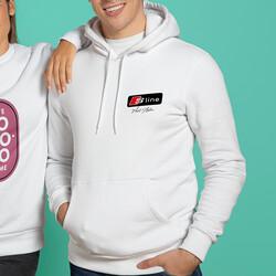 S Line Logolu Kişiye Özel Kapşonlu Sweatshirt - Thumbnail