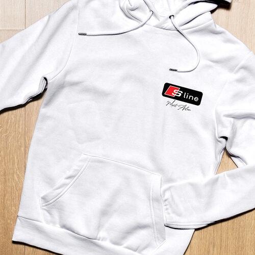 S Line Logolu Kişiye Özel Kapşonlu Sweatshirt