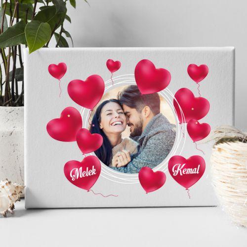 Sevgililer Günü Hediyesi Aşkımız Kanvas Tablo