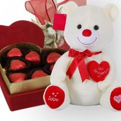 Sevgililer Günü Hediyesi Ayıcık ve Çikolata - Thumbnail