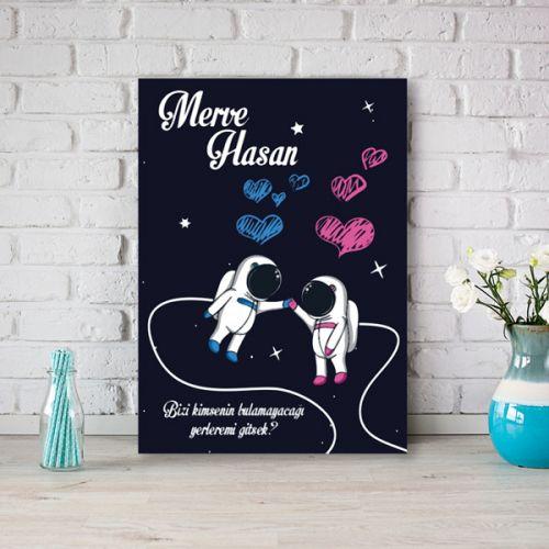 Sevgililer Günü Hediyesi Mutlu Çift Kanvas Tablo